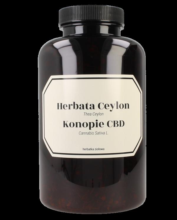 Herbata czarna Ceylon z Konopią CBD