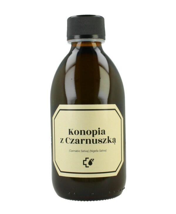 Olejek konopny z olejem z czarnuszki